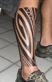 polynesian style lower leg tattoo cool tattoo designs lower