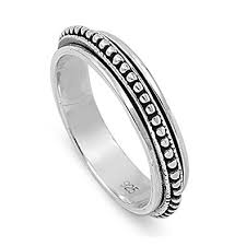 spinner ring sterling silver bali spinner ring size 5 13 jewelry
