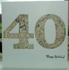 a world of imagination 40th birthday card