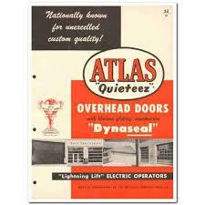 Atlas Overhead Doors Atlas Overhead Door Company 1954 Quieteez Dynaseal Vintage Catalog