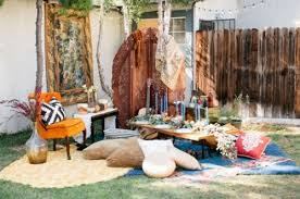 whimsical bohemian backyard bridal shower party decor advisor