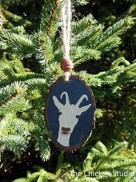 Goat Decor Goat Ornament Christmas Ornaments Goat Decor By Thechickenstudio