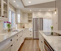 Kitchens With Different Colored Islands by Kitchen Island With Cooktop In Kitchen Transitional With Electric