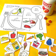 teach kids about healthy eating with a food group sorting activity