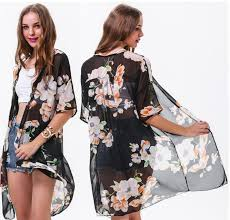 cardigan kimono black floral kimono cardigan wardrobecafe