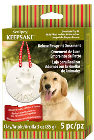 deluxe pawprint ornament kit sculpeysculpey
