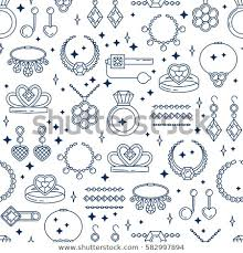 necklace pattern collection images Set vector jewelry line seamless pattern stock vector royalty jpg