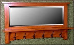 113 ma engelwood 42 u0027 u0027 coat rack with mirror 6 hooks ophh