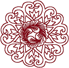 asian designs asian cabbage circle embroidery design