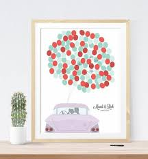 wedding guest sign in guestbook alternative print wedding guest sign in classic car