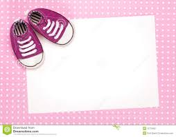 blank card with pink baby shoes stock photography image 12775652