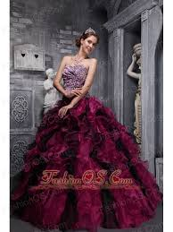 and black quinceanera dresses fuchsia and black quinceanera dress leopard print and ruffles and