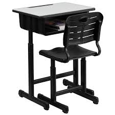 Flash Furniture Adjustable Height Student Desk And Chair With Black