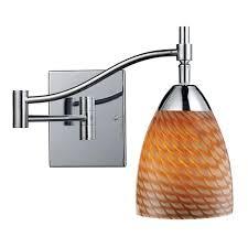 Swing Arm Sconce Lighting Titan Lighting Insulator Glass 1 Light Oiled Bronze Wall Mount