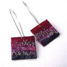 paper mache earrings papier mache earrings 3 rustic hearts on a hoop by studioceladon