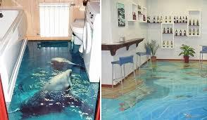 3d bathroom flooring 3d floors turn your bathroom into an ocean bored panda