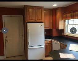 gray kitchen walls with oak cabinets wall color bm for honey oak kitchen cabinets