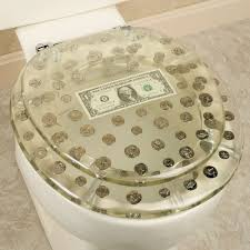 dollar bill toilet seat