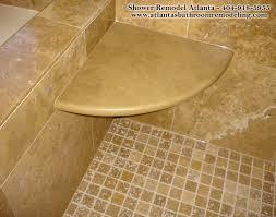 corner shower bench installing corner seat tile shower recessed