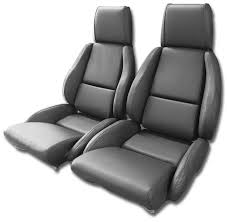 1994 corvette seats c4 corvette 1984 1996 driver black leather seat covers pair