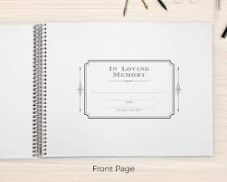 funeral guest book funeral guestbook remembrance guest book memorial guest