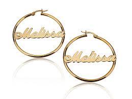 hoop earrings with name 18k gold plated hoop earrings jewelry persjewel