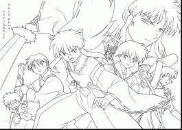 stunning inuyasha coloring pages with coloring book page