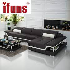 Double Chaise Sectional Ifuns Chaise Sofa Set Living Home Furniture Modern Design Genuine