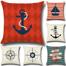 aliexpress com buy 45cm 45cm sailing the sea symbol linen cotton