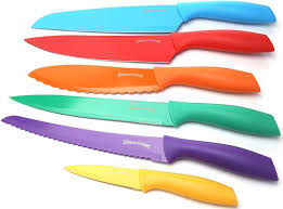 Plastic Kitchen Knives Utopia Kitchen 7 Piece Color Coded Non Stick Cutting Board And