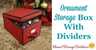 ornament storage box with dividers for large decorations