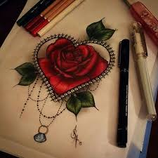 heart and rose tattoo tattoos u0026 piercings pinterest rose
