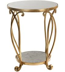 Gold Accent Table Uttermost 24794 Martella 25 X 21 Inch Gold Accent Table