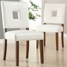 Leather Dining Room Chairs Dining Room Engaging White Leather Dining Room Chairs Appealing