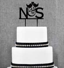 monogram wedding cake toppers bird monogram wedding cake topper design personalized with