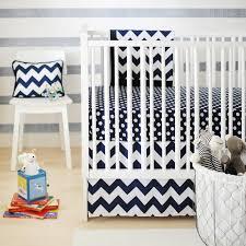 Navy Crib Bedding Zig Zag Baby Crib Bedding Set In Navy Rosenberryrooms Com