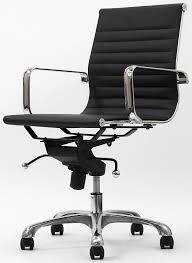 Conference Room Chairs Leather Amazon Com Malibu Mid Back Office Chair In Black Leatherette