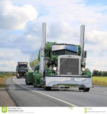 peterbilt show trucks peterbilt 359 semi tank truck 1971 on the road editorial photo
