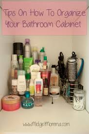 how to organize bathroom cabinet