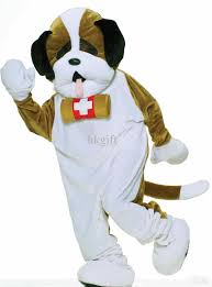 mascot costumes for halloween deluxe st bernard mascot costume for adults fur halloween party