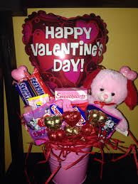 balloon and candy bouquets valentines candy bouquet with pink candy bouquets