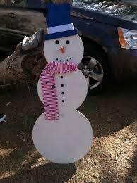 wooden snowman easy wooden christmas snowman 8 steps