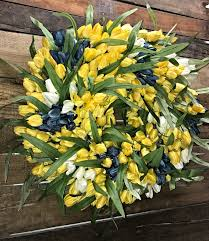 Tulip Wreath Tulip Wreath Spring Wreath Spring Tulip Wreath Yellow Tulip