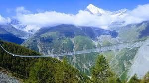 europaweg skywalk longest pedestrian suspension bridge