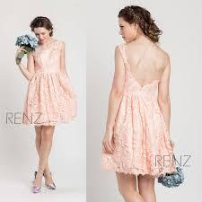 2016 pink lace bridesmaid dress short blush elegant dress peach a
