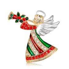 shevalues 2017 christmas dancing beautiful angel brooches female