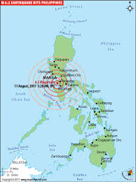 Italy Earthquake Map Philippines Earthquake Map Places Affected By Earthquake In