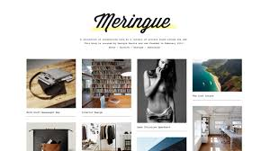 tumblr themes art blog meringue new theme featuring 4 columns optional captions optional