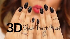 how to 3d black matte nails with louboutin tips youtube