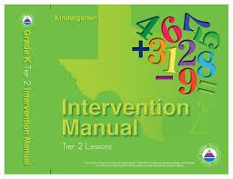 3 tier math model intervention tier 2 english for kindergarten